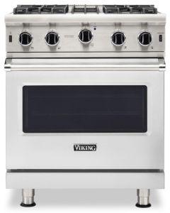 """30"""" VIKING Pro Ranges : 24""""D. Gas Open Burner Range 4 Burners : VGIC53024B"""