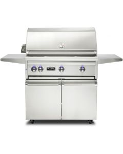"""36"""" VIKING Pro Outdoor Grill : Freestanding Grill With Prosear Burner and Rotisserie (l36psfr2) : VQGFS5361NSS"""
