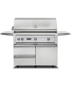 """42"""" VIKING Pro Outdoor Grill : Freestanding Grill With Prosear Burner and Rotisserie (l42psfr2) : VQGFS5421NSS"""