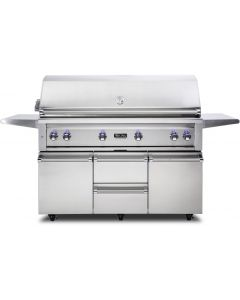 """54"""" VIKING Pro Outdoor Grill : Freestanding Grill With Prosear Burner and Rotisserie (l54psfr2) : VQGFS5541NSS"""