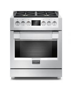 "30"" Freestanding Sofia, 4 Brass Burner Gas Range, Stainless"