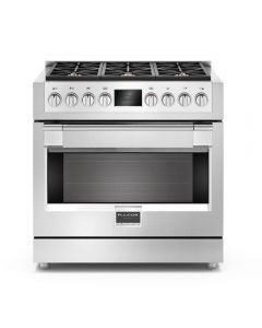 "36"" Freestanding Sofia, 6 Brass Burner Gas Range, Stainless"