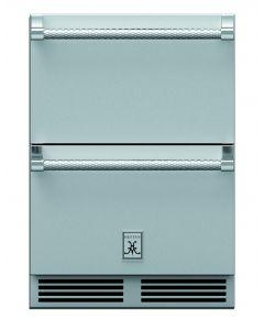 "24"" HESTAN Outdoor Refrigerator Drawer, Freezer Drawer, with Lock"