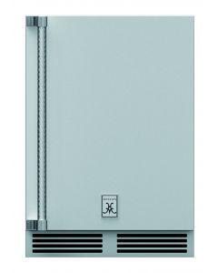 """24"""" HESTAN Outdoor Dual Zone Refrigerator with Wine, Solid Door, with Lock, Left Hinged"""