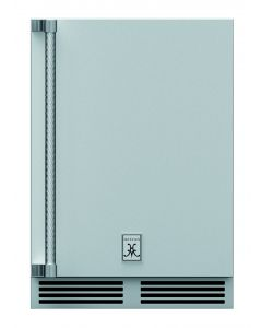 """24"""" HESTAN Outdoor Dual Zone Refrigerator with Wine, Solid Door, with Lock, Right Hinged"""