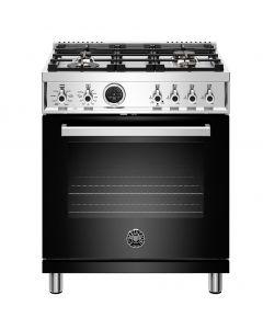 "30"" Bertazzoni Professional Series Range Dual Fuel Electric Self Clean Oven 4 Brass Burners"
