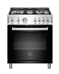 "30"" Bertazzoni Professional Series Range All Gas Oven 4 Brass Burners"