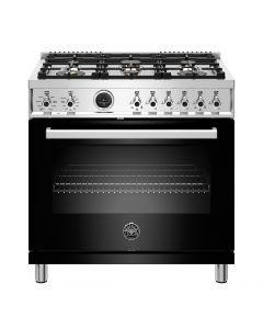 "36"" Bertazzoni Professional Series Range Dual Fuel Electric Self Clean Oven 6 Brass Burners"