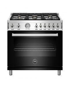 "36"" Bertazzoni Professional Series Range All Gas Oven 6 Brass Burners"