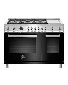 "48"" Bertazzoni Professional Series Range Dual Fuel Electric Self Clean Oven 6 Brass Burners + Griddle"