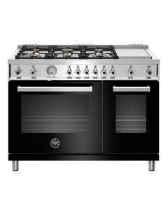 """48"""" Bertazzoni Professional Series Range All Gas Oven 6 Brass Burners + Griddle"""