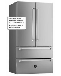 """36"""" Bertazzoni Freestanding refrigerator Stainless - French door"""