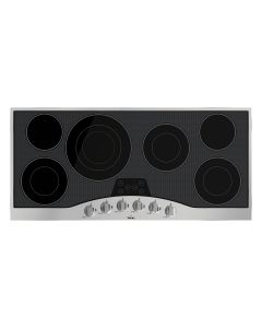 """45"""" Viking Electric Radiant Cooktop-6 Elements-Stainless Black"""
