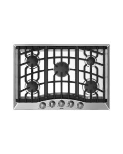 """30"""" VIKING 3 Series Cooktops : Gas Cooktop 5 Burners Stainless : RVGC33015B"""