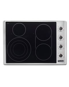 """30"""" Viking Electric Radiant Cooktop-4 Burners-Stainless Black"""