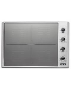 """30"""" VIKING Pro Cooktops : Induction Cooktop Stainless Black 4 Burners : VICU53014BST"""