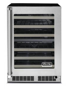 "24"" VIKING Pro Undercounter Wine Refrigeration : Dual Zone Wine Cellar : VWUI5240G"