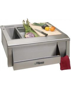 Alfresco 30-Inch Outdoor Rated Versa Apron Sink With Prep Package