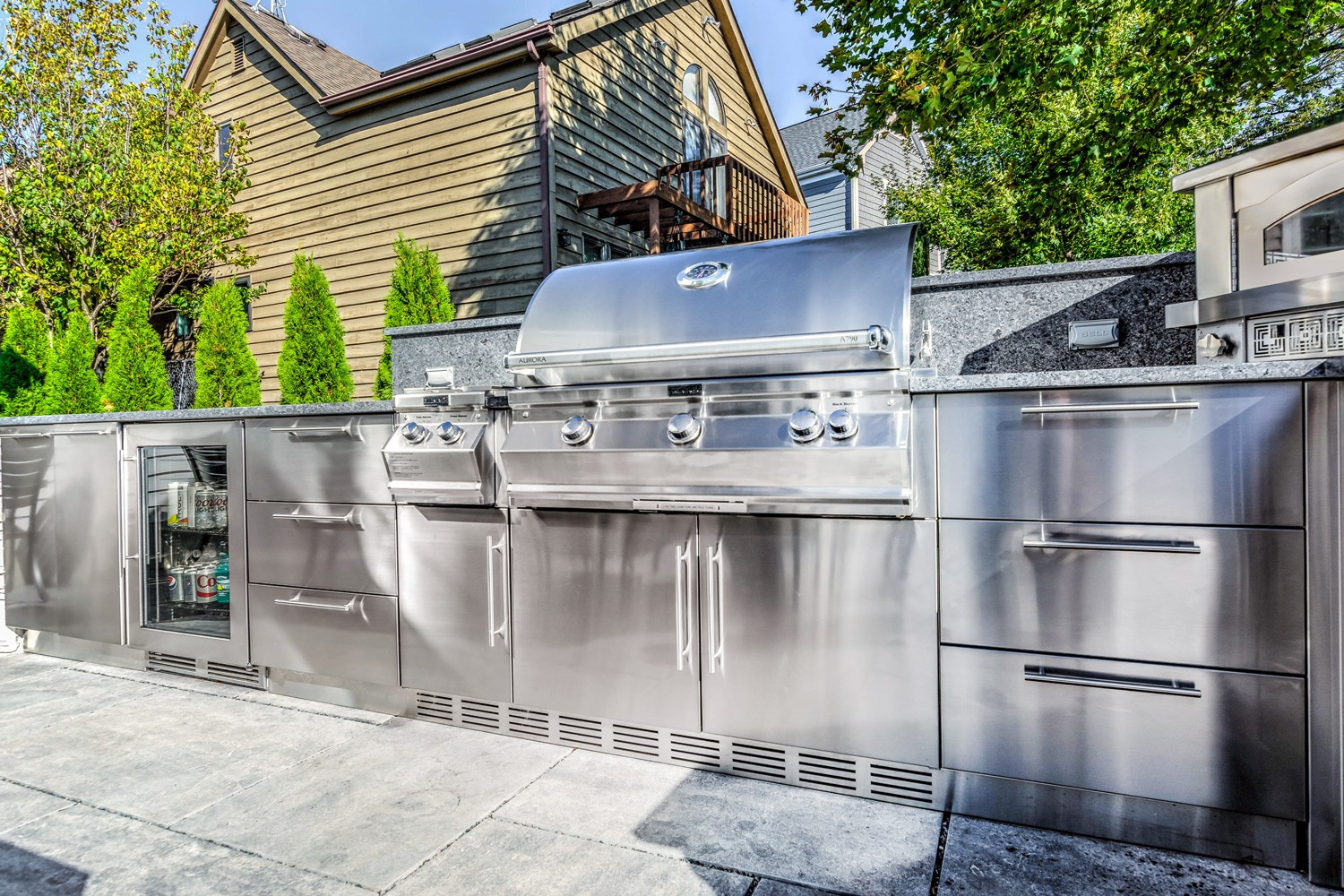 John michael outdoor kitchens best stainless steel for Stainless steel outdoor kitchen